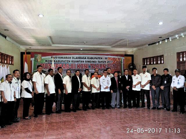 Zulhendri Pimpin KONI Kuansing Periode 2017-2021