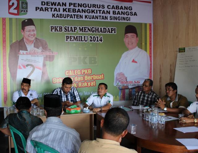 Hadapi Pemilu 2014, DPC PKB Kuansing Kumpulkan Seluruh Caleg