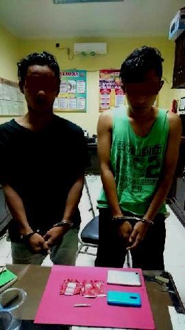 Polres Amankan Dua Remaja Pemilik Sabu-sabu di Kawasan Eks Trans Singingi
