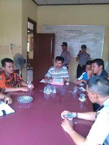 Terkait Penahanan Sigalri, Puluhan Anggota PP Lakukan Aksi Damai di Mapolsek Pangean