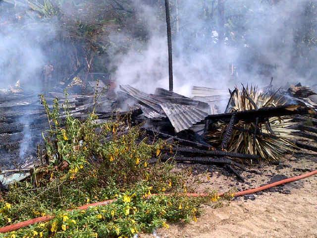 Rumah Janda Beranak Lima di Jake Hangus Dilalap Api