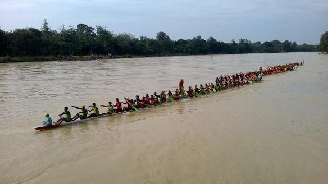 3 Jalur Kuansing akan Tantang 5 Jalur Inhu Babak Final Pacu Jalur Rayon I Inhu