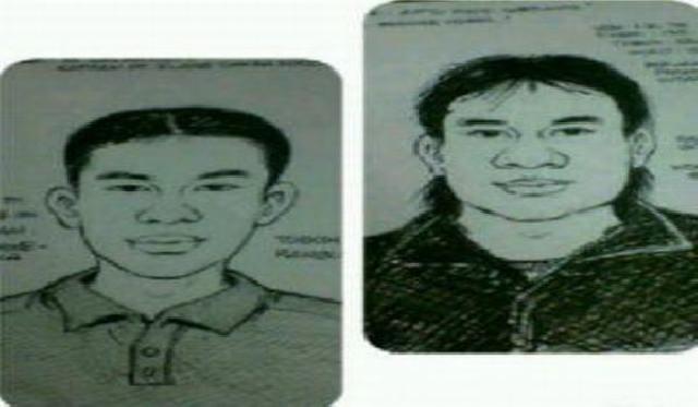 Ini Sketsa Pelaku Penembakan Dua Anggota Polisi Pondok Aren