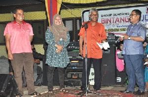 Indra Putra-Komperensi Hadiri Acara Melayur Jalur Batu Lompatan Harimau Kompe