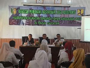 TP4D Kejari Kuansing Berikan Penyuluhan Hukum dan Pembinaan Bagi Masyarakat Jasa Kontruksi