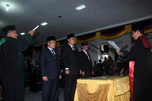 Dihadiri Plt Gubri, Pimpinan Defenitif DPRD Kuansing Resmi Dilantik
