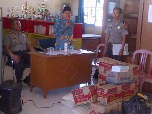 Jelang HUT Bhayangkara, Polres Kuansing Berbagi dengan Yatim Piatu Panti Asuhan Aisiyah