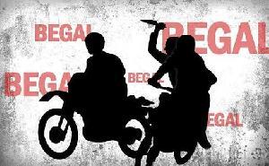 Sepeda Motor  Mahasiswi Asal Baserah Dirampas Begal Ditengah Jalan