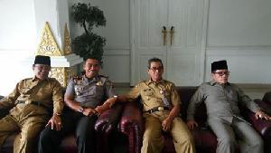 Hadiri Rakor Bupati se-Riau, Bupati : Pemerintah, TNI dan Polri Harus Bersinergi
