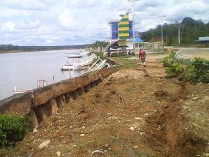Akibat Hujan Deras, Turap Venue Dayung Kobun Nopi Hampir Amblas