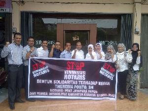 Solidaritas atas Theresia Ponto di Papua, Notaris Kuansing Gelar Aksi Solidaritas dan Mogok Kerja