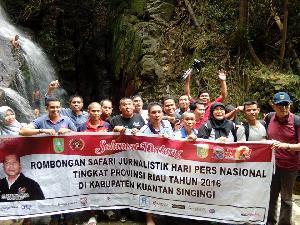 Rombongan Safari Jurnalistik HPN Kagum Riau 2016 dengan Potensi Pariwisata Kuansing