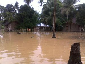 Muara Lembu,  Rambahan dan Perhentian Luas LTD Banjir, Puluhan Rumah Terendam