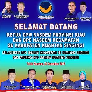 Sejumlah Tokoh Bergabung, Nasdem Kuansing Gelar Konsolidasi Besarkan Partai