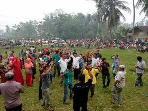 Saat Kampanye di Desa Pulau Panjang Hilir, Tokmas Minta Warga Inuman Kompak Dukung MM