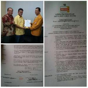 Sah, DPP Hanura dan Wiranto Dukung Indra Putra - Komperensi di Pilkada Kuansing