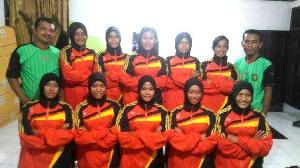 Tampil Meyakinkan Didebut Perdana Popda Riau, Tim Bola Voli Putri Popda Kuansing Cukur Rohil 3-0