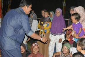 Reses Andi Putra di desa Ujung Tanjung Disambut Meriah Warga