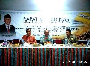 Rakor Pustaka dan Arsip se-Riau di Kuansing Dihadiri Gubri dan Sekretaris Utama Perpusnas RI